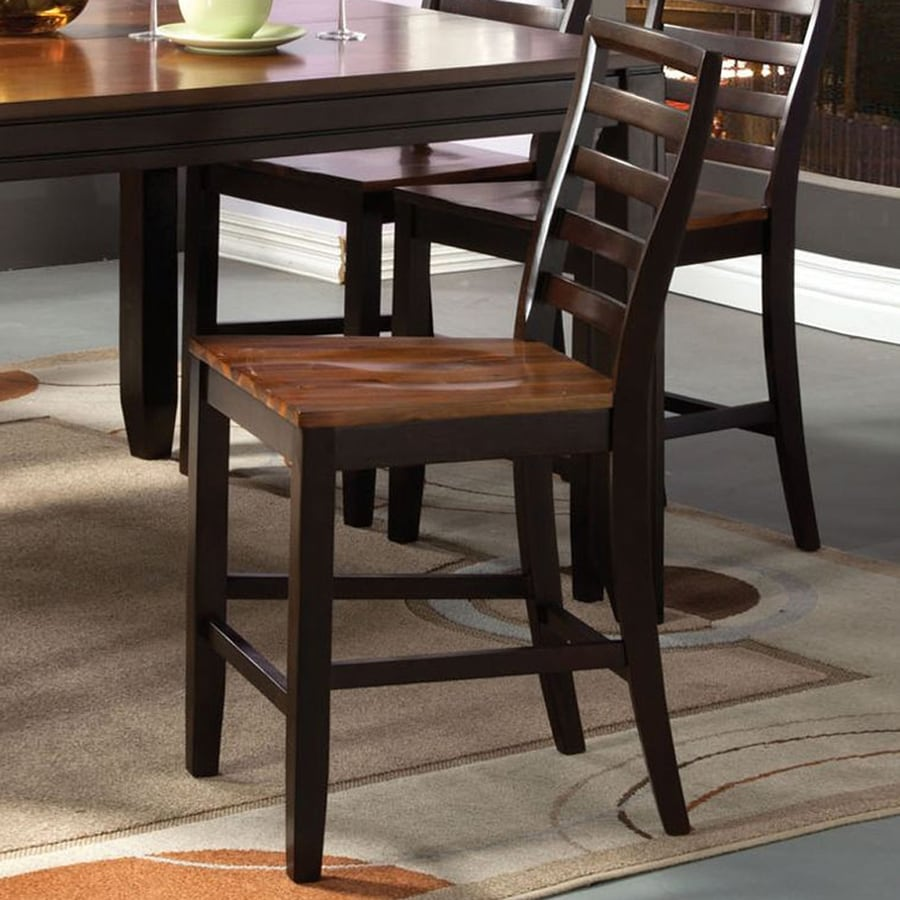 Furniture of America San Isabel Acacia/Espresso Counter Stool