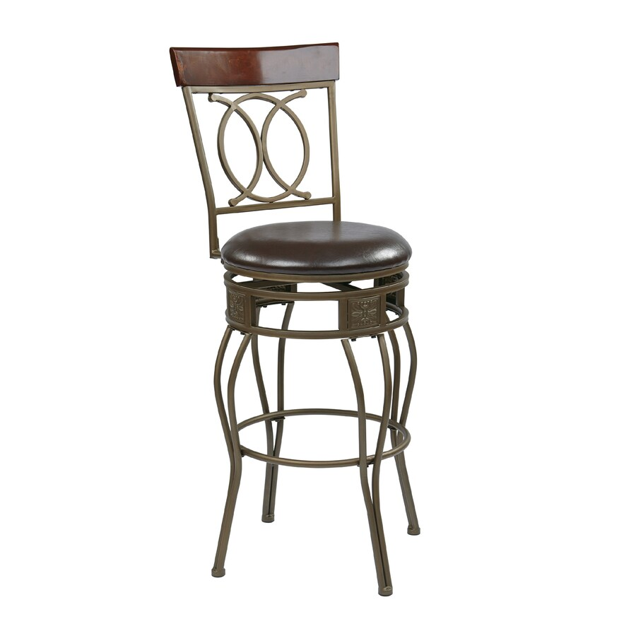 office star osp designs cosmo casual espresso bar stool