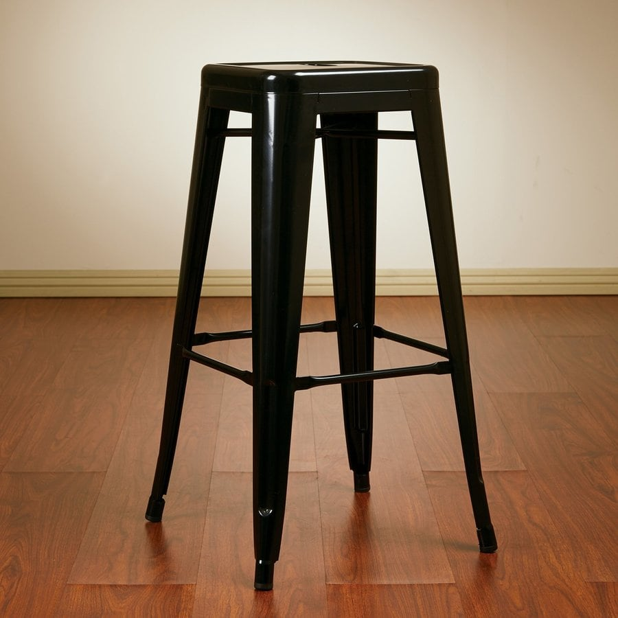 Office Star Work Smart Patterson Black Bar Stool