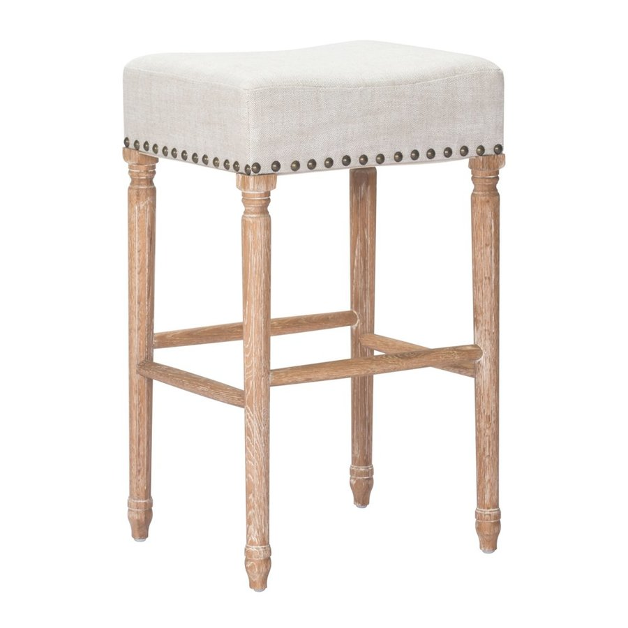 Zuo Modern Anaheim Set of 2 Country/Cottage Beige Bar Stools