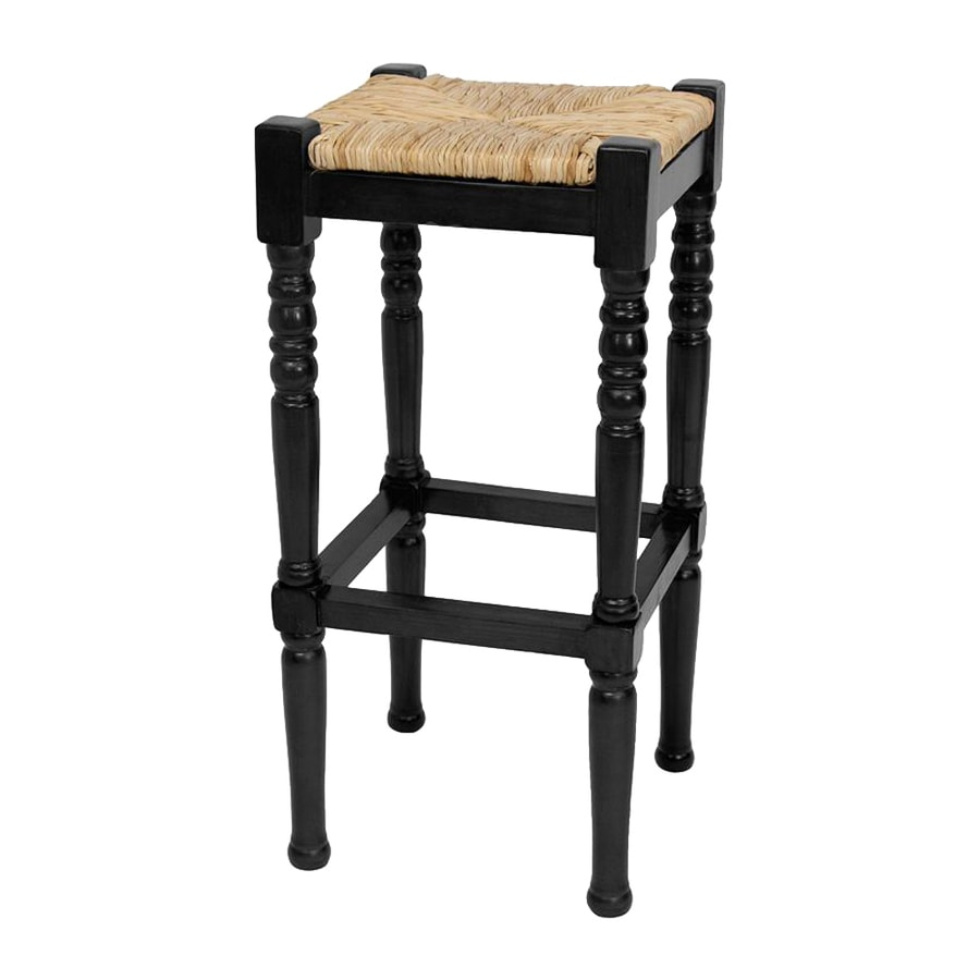 Oriental Furniture Black Bar Stool