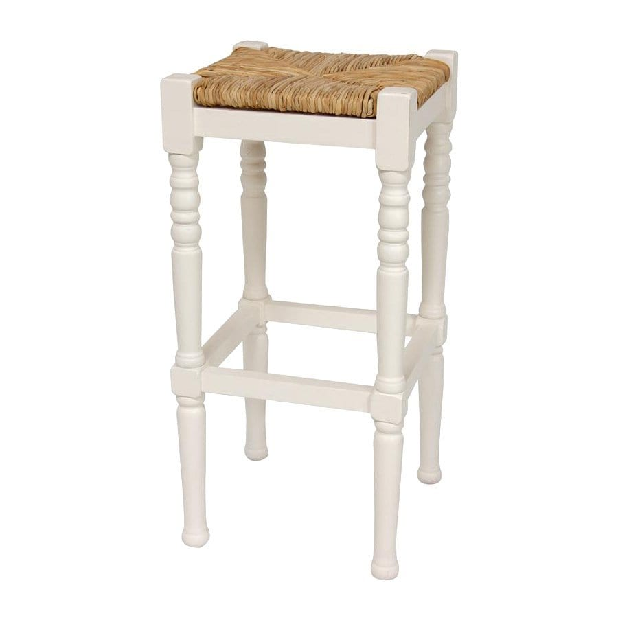 Oriental Furniture White Bar Stool