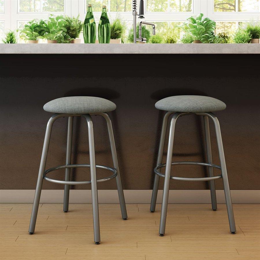 Amisco Log Medium Grey/Glossy Grey Bar Stool