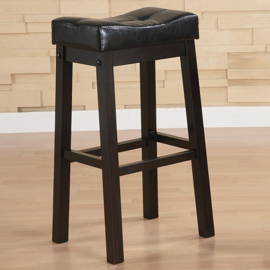 Coaster Fine Furniture Set Of 2 Cuccino Black Bar Stools