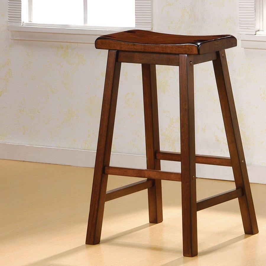 Coaster Fine Furniture Set Of 2 Chestnut Bar Stools