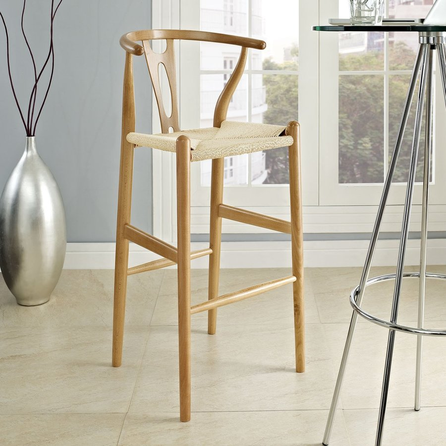 Modway Hourglass Natural Bar Stool