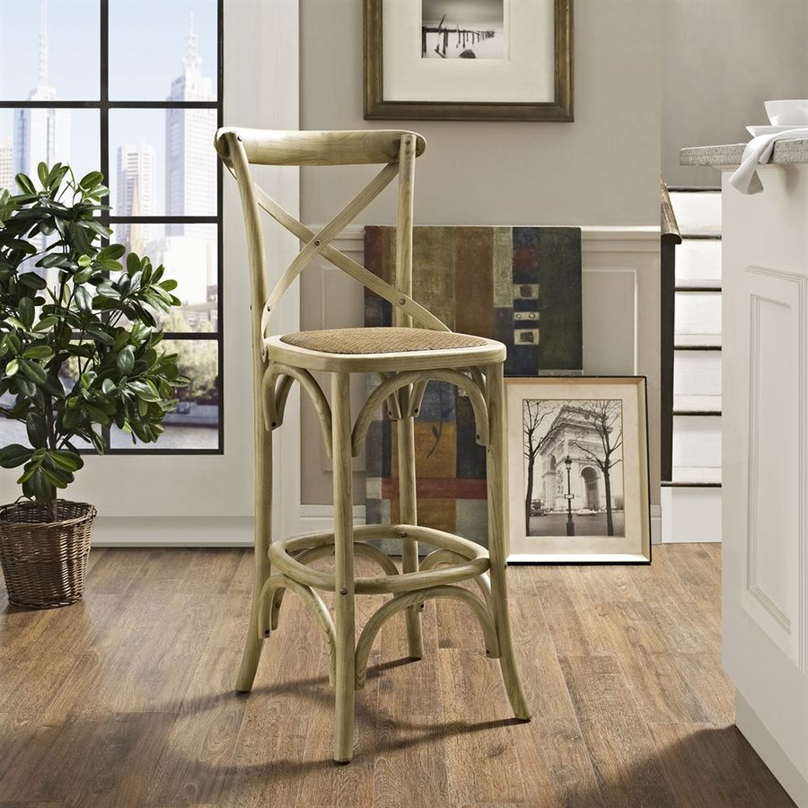 Modway Gear Natural Bar Stool