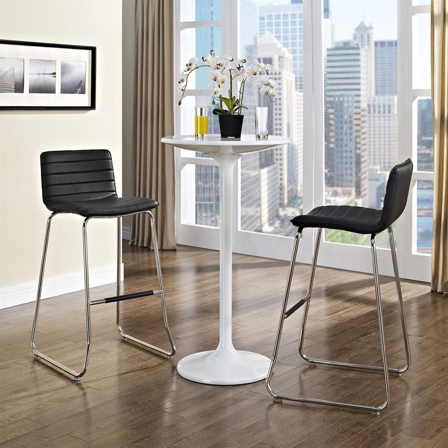 Modway Dive Black/Chrome Bar Stool