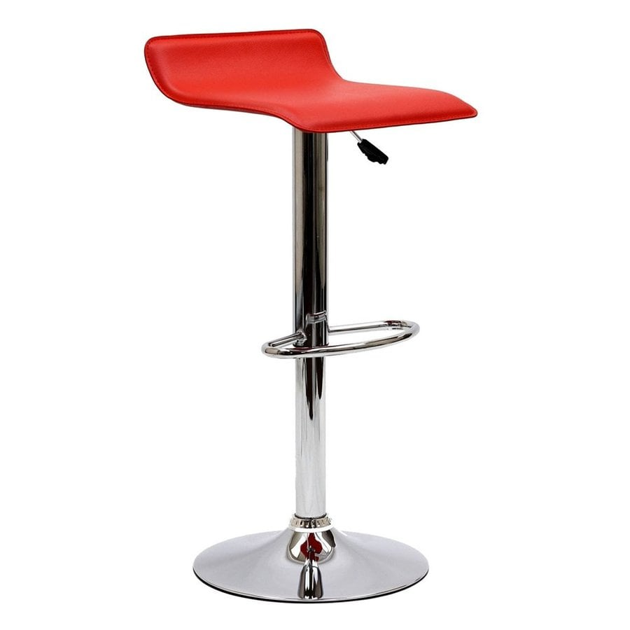 Shop Modway Gloria Red Adjustable Stool At Lowes Com