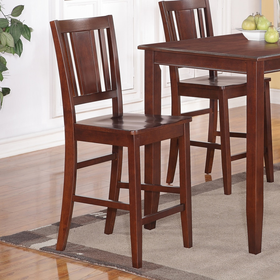 East West Furniture Buckland Mahogany Counter Stool