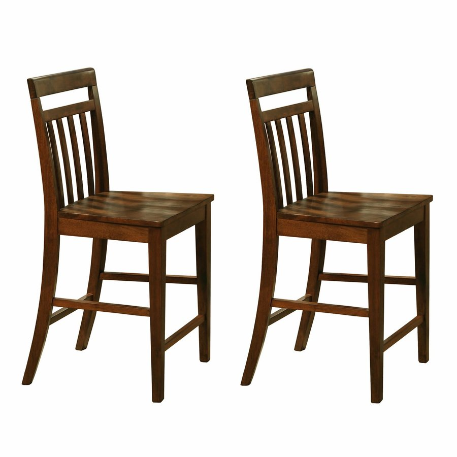 East West Furniture Dark Oak Counter Stool