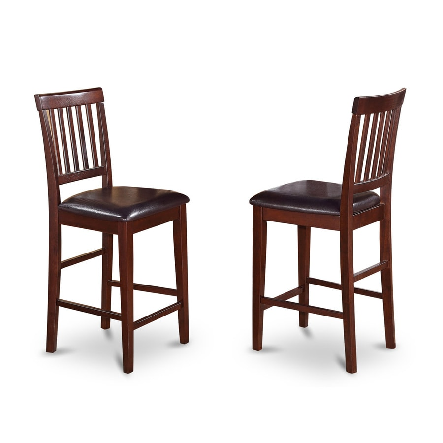 East West Furniture Vernon Mahogany Counter Stool