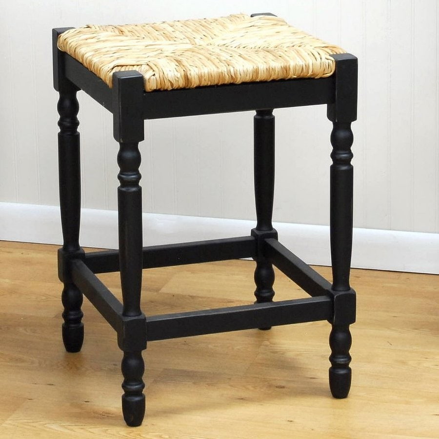 CAROLINA COTTAGE Hawthorne Antique Black Counter Stool