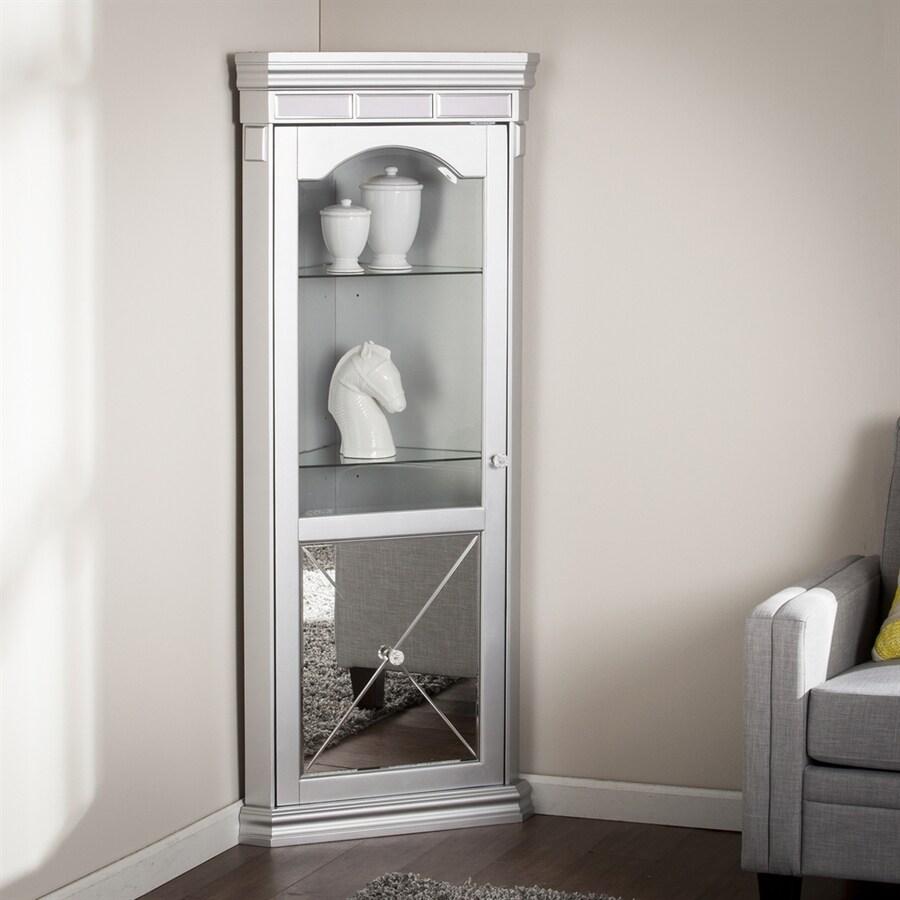 Boston Loft Furnishings Impression Matte Silver Curio Cabinet