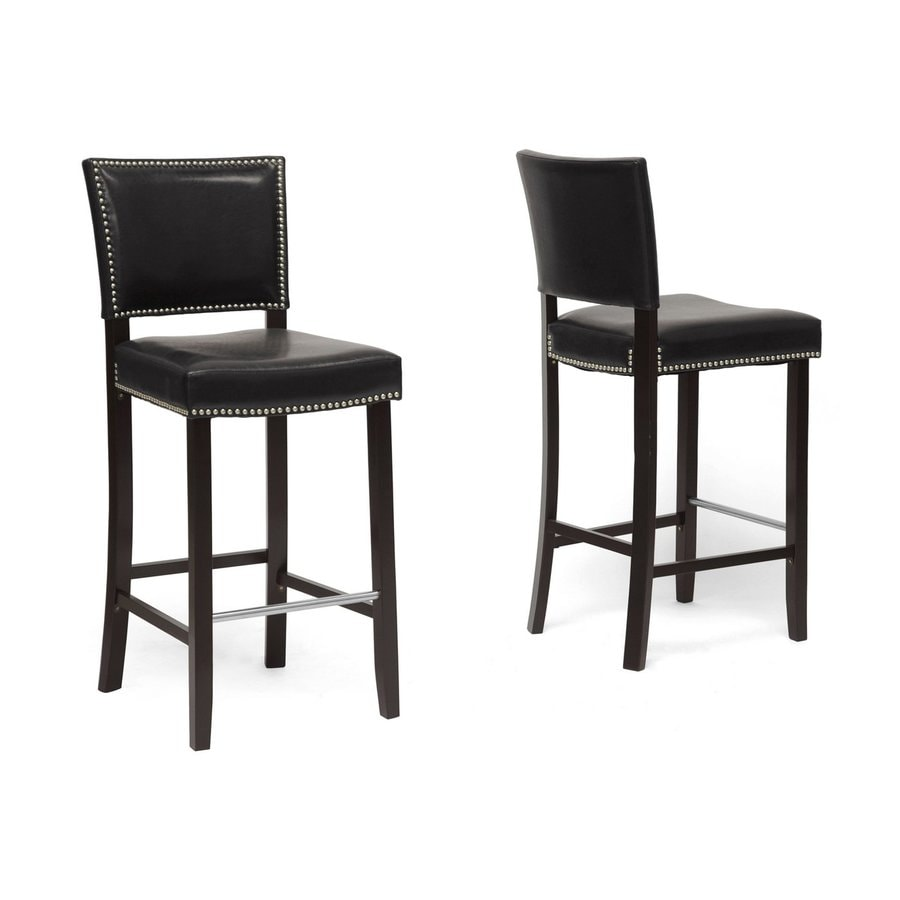 Baxton Studio Aries Wenge Bar Stool