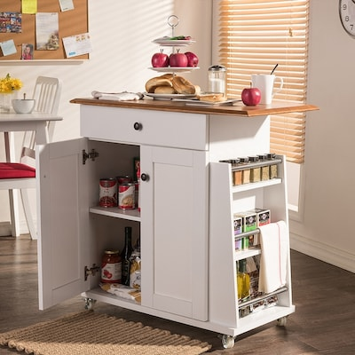 White Modern Kitchen Cart