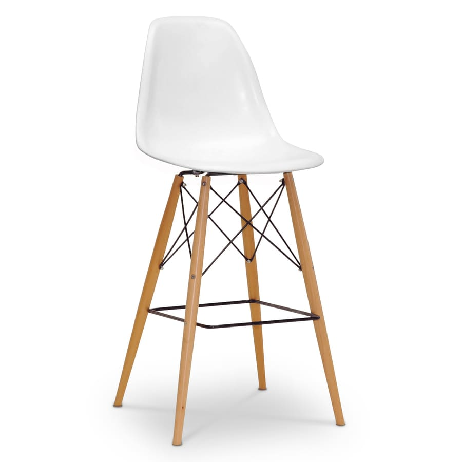 Baxton Studio Azzo White Bar Stool