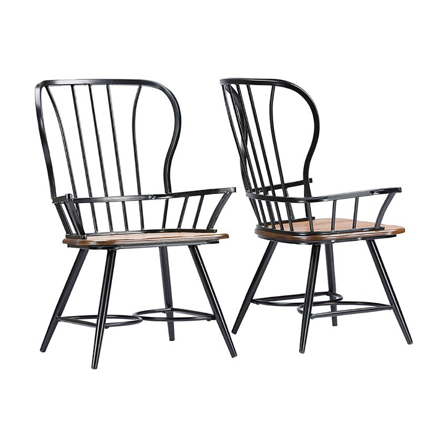 Baxton Studio Set of 2 Longford Arm Chairs