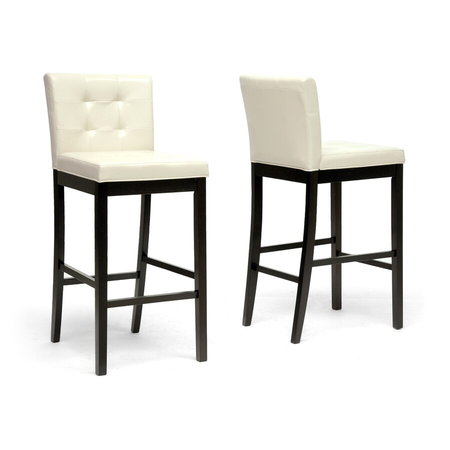 Baxton Studio Prospect Set of 2 Cream Bar Stools