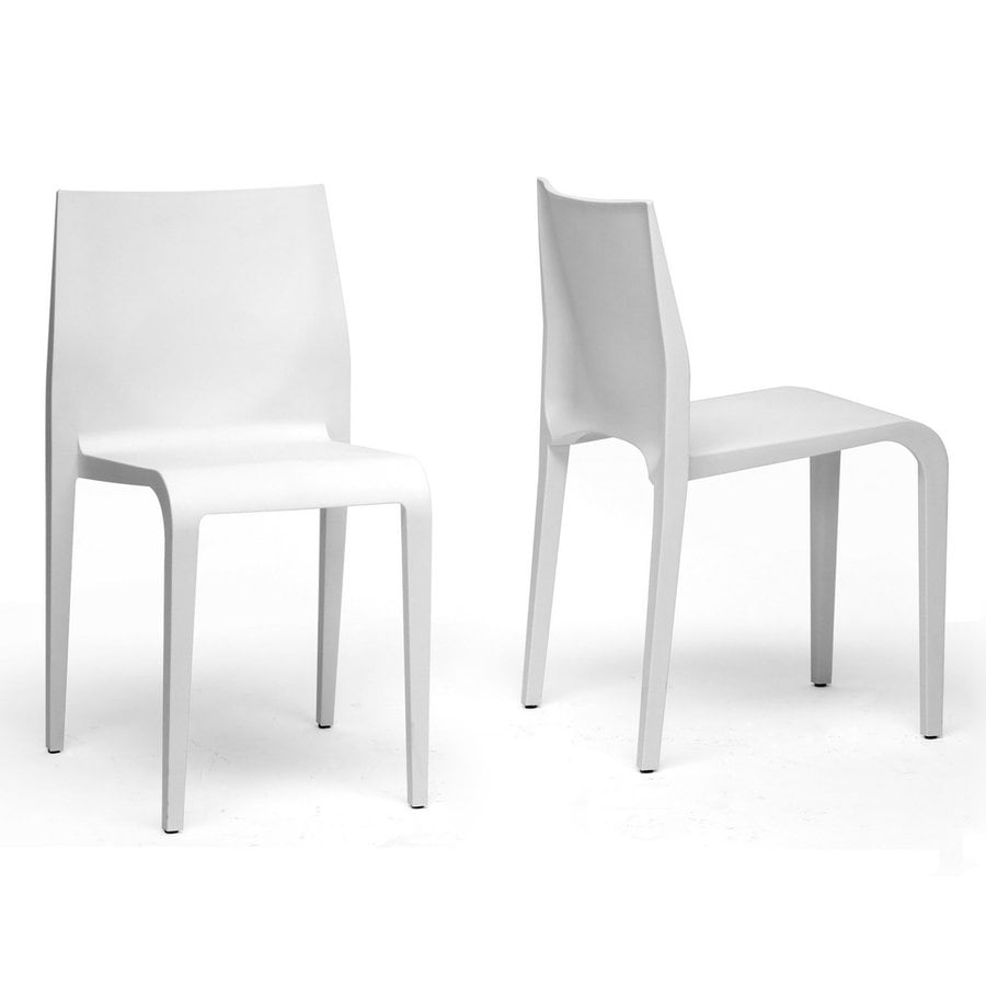 Baxton Studio Set of 2 Blanche Contemporary Arm Chair