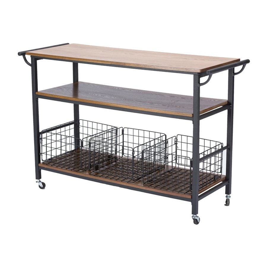 Baxton Studio Brown Industrial Kitchen Cart