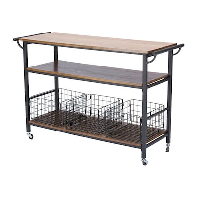 Brown Industrial Kitchen Cart