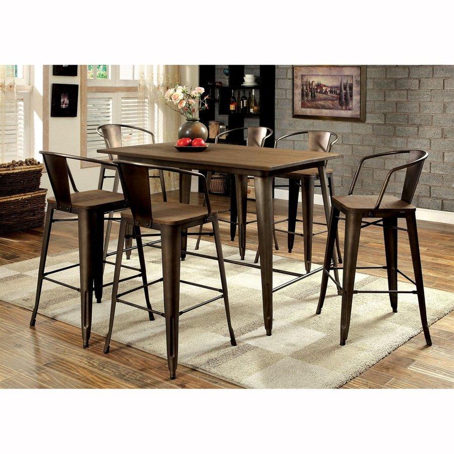 Furniture of America Copper II Counter Table