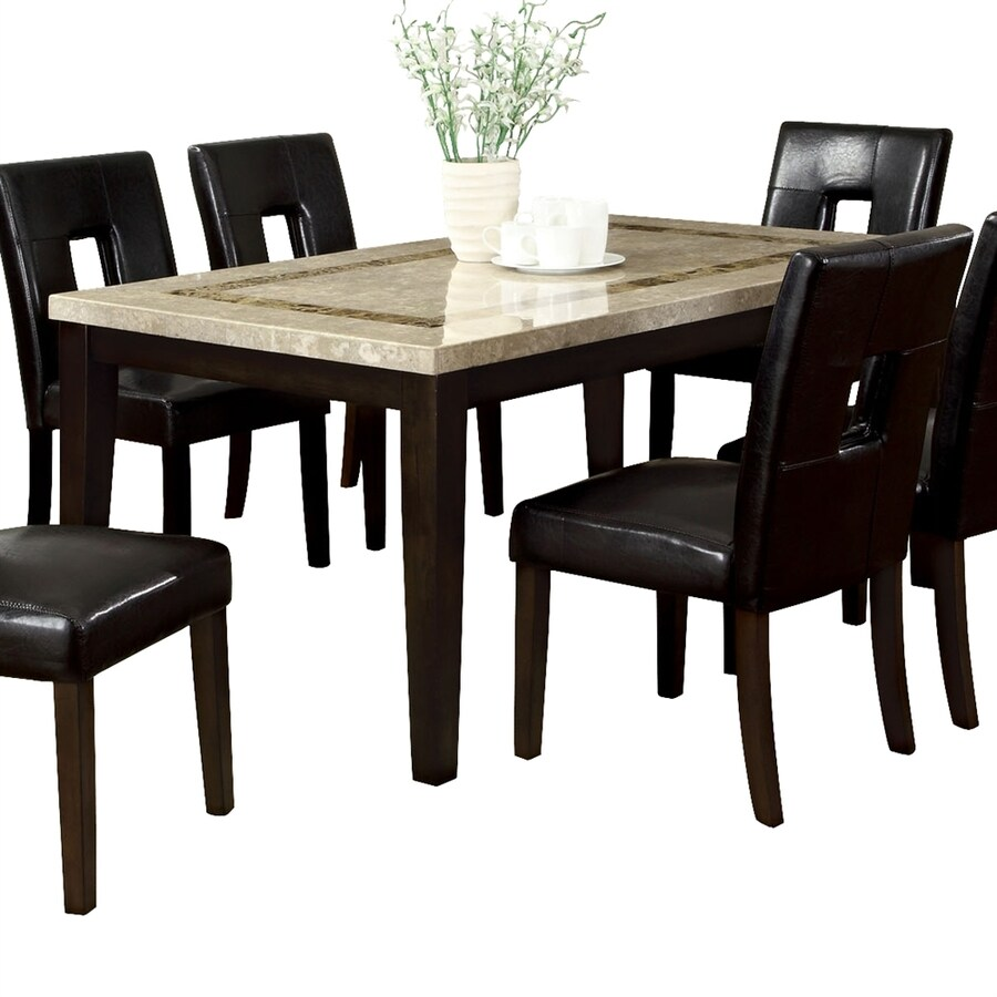 Furniture of America Lisbon Marble Dining Table