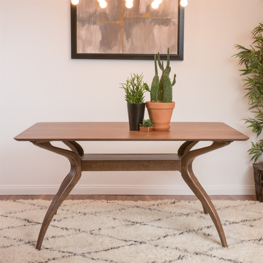 Best Selling Home Decor Salli Natural Walnut Dining Table