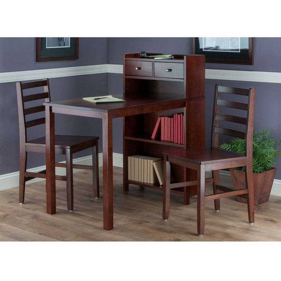 Winsome Wood Tyler Walnut Dining Set with Bar Table