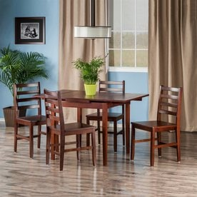 Winsome Wood Pulman Walnut Dining Set With Square Dining Table