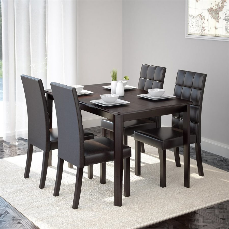 Whitley Cappuccino 5 Piece Dinette Set: CorLiving Atwood Cappuccino 5-Piece Dining Set With Dining