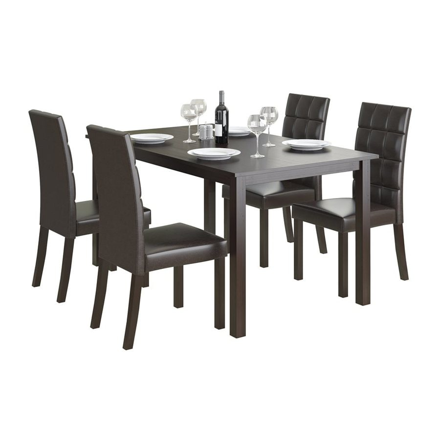 CorLiving Atwood Cappuccino 5-Piece Dining Set with Dining Table