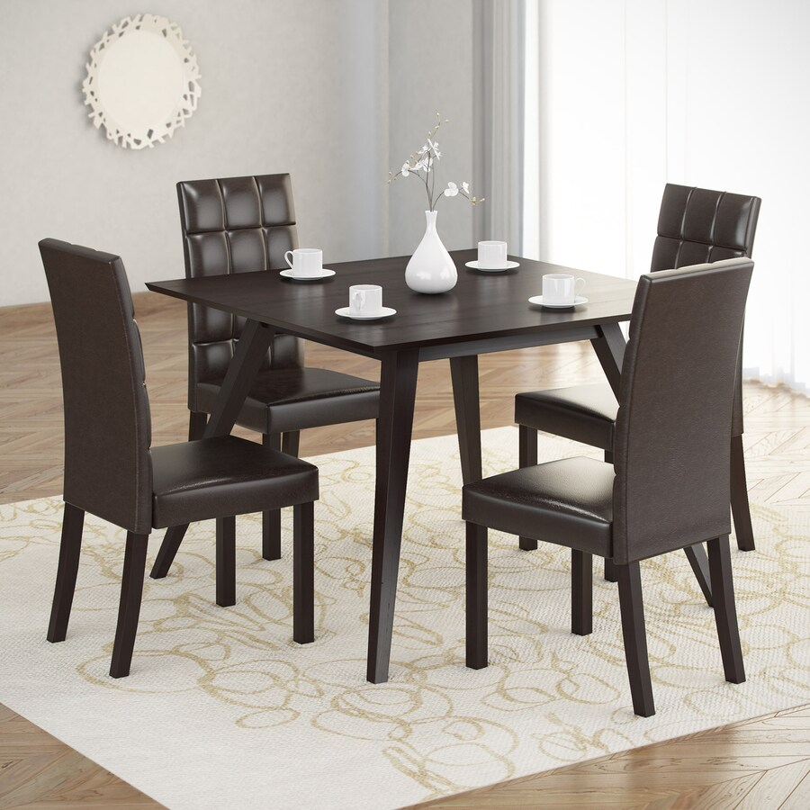 CorLiving Atwood Cappuccino Dining Set with Square Dining Table