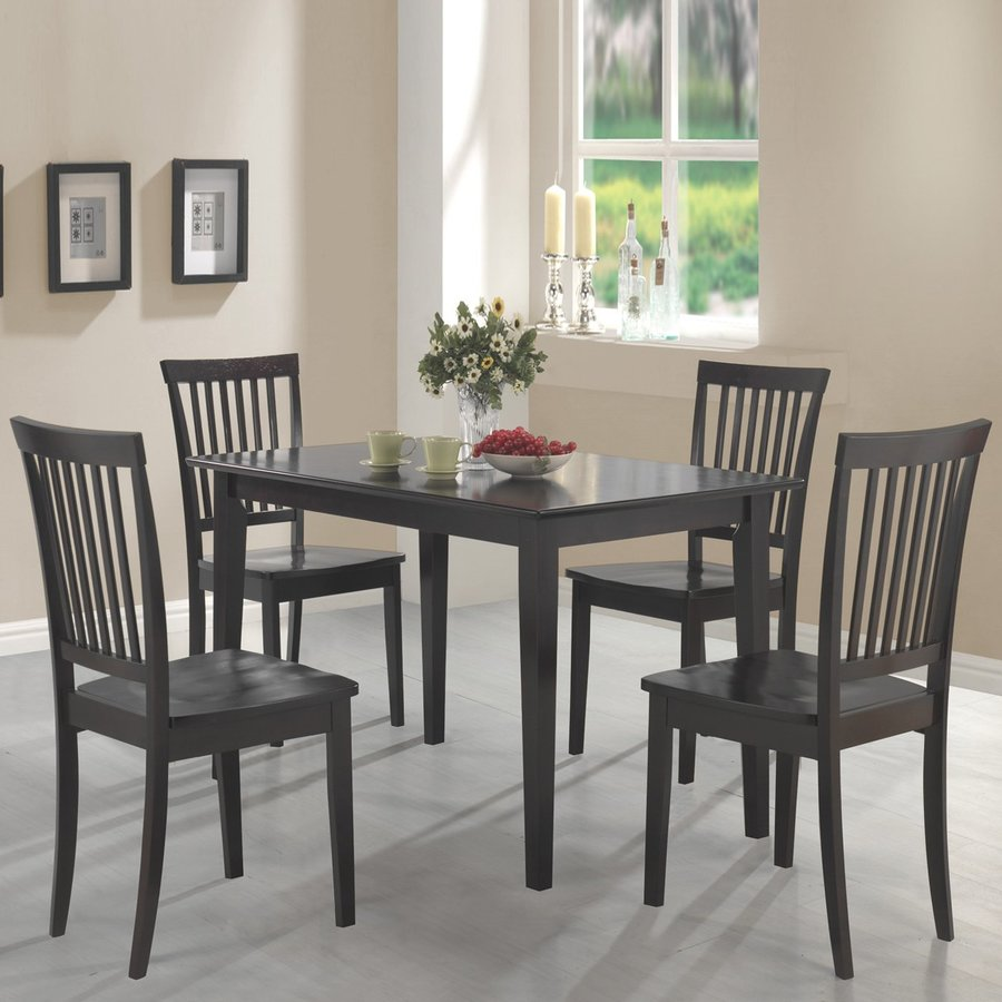 Coaster Fine Furniture Oakdale Cappuccino Dining Set with Rectangular Table