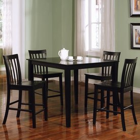 Coaster Fine Furniture Ashland Black 5 Piece Dining Set With Counter Height  Table