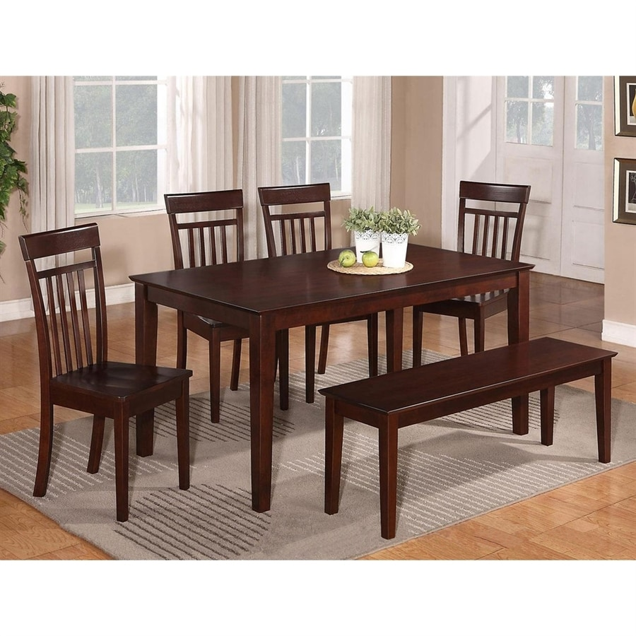 East West Furniture Capri Wood Dining Table