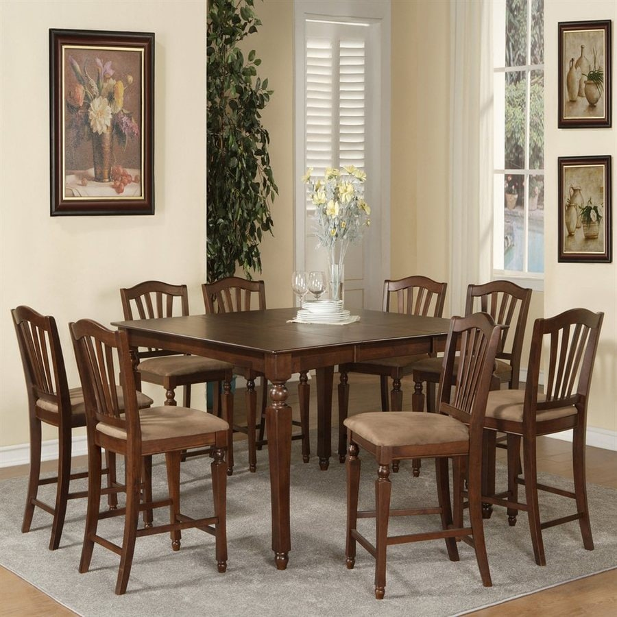 East West Furniture Chelsea Wood Extending Counter Table