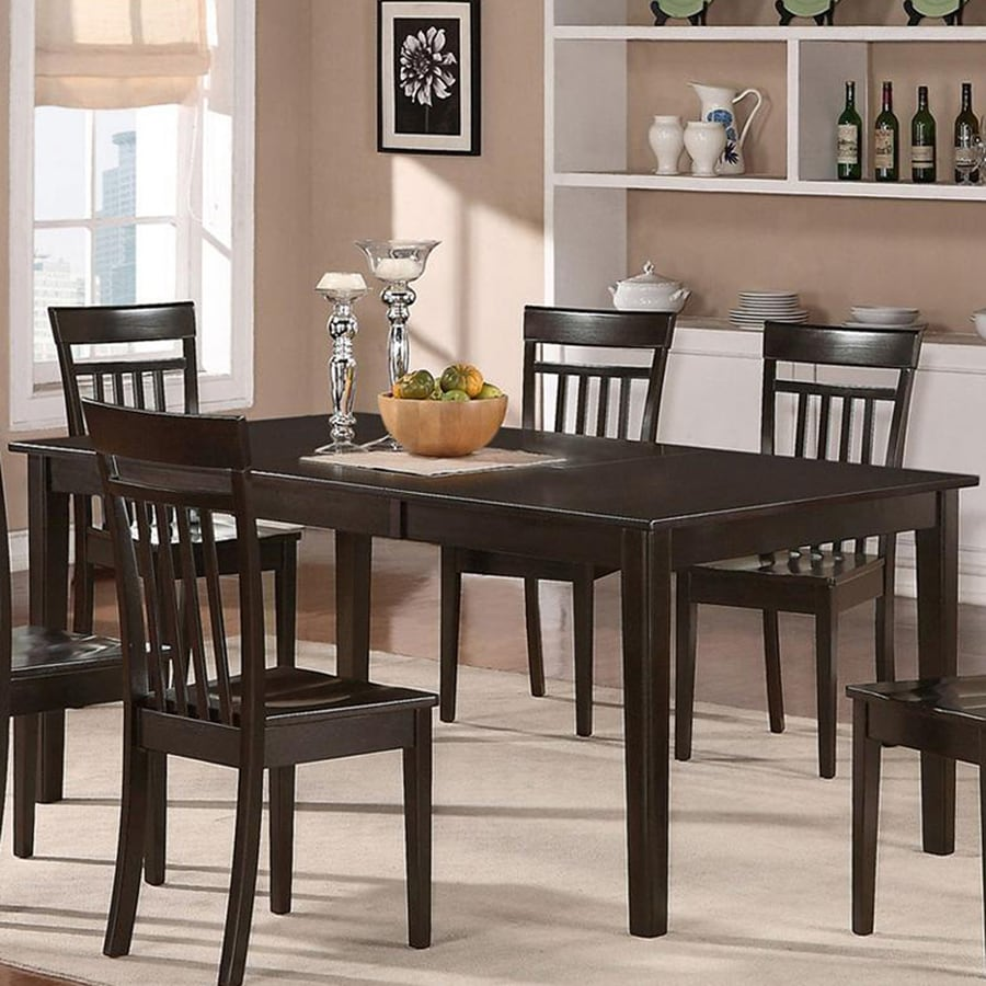 East West Furniture Henley Wood Extending Dining Table