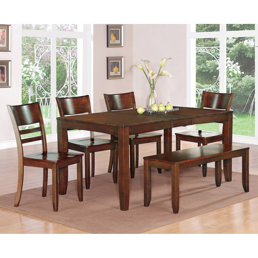 East West Furniture Lynfield Wood Extending Dining Table