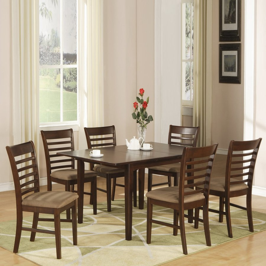 East West Furniture Milan Wood Extending Dining Table