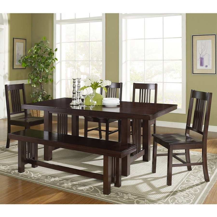 Charmant Walker Edison Meridian Cappuccino 6 Piece Dining Set With Dining Table
