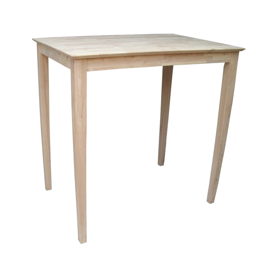 International Concepts Wood Bar Table