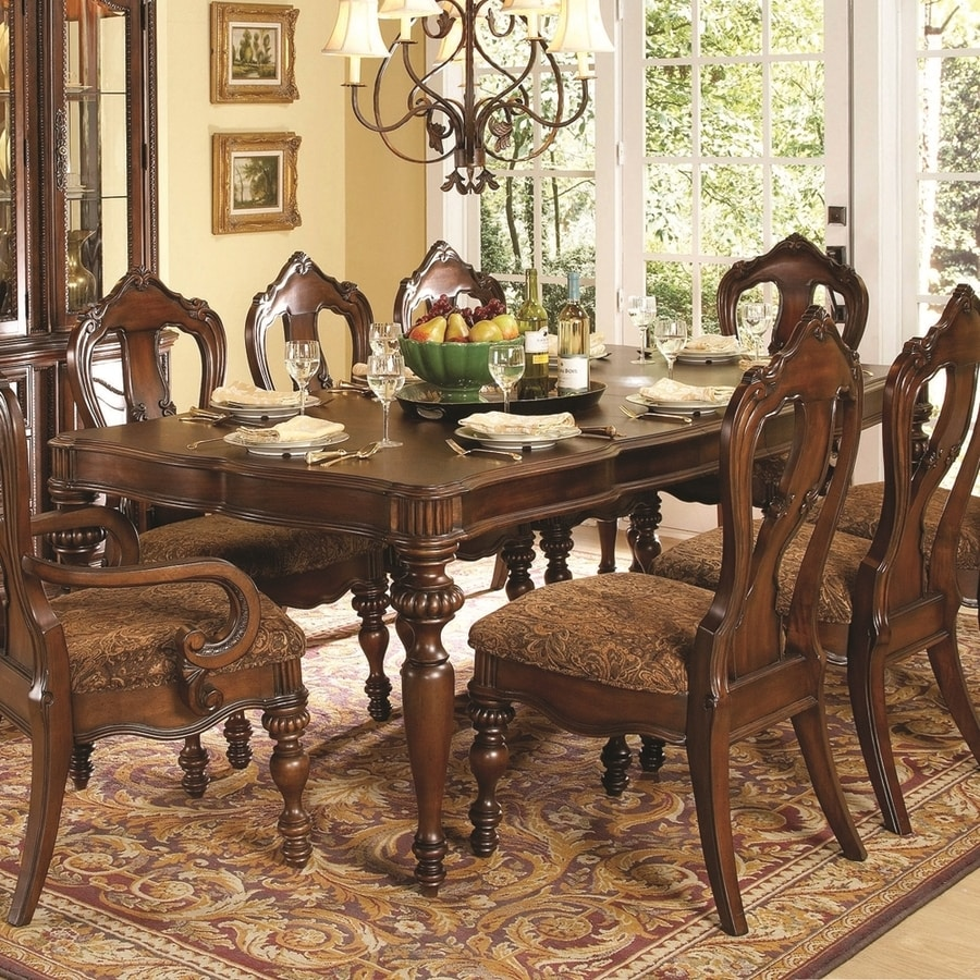 Homelegance Prenzo Warm Brown Cherry Composite Extending Dining Table