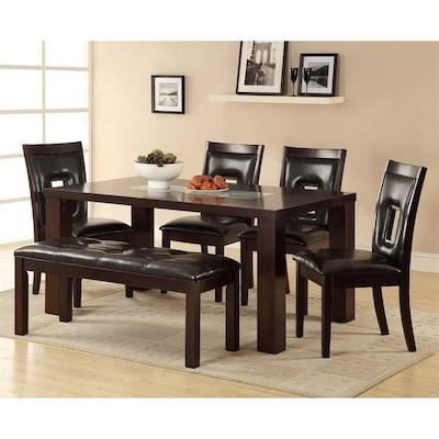 Homelegance Lee Dark Espresso Composite Dining Table at ...