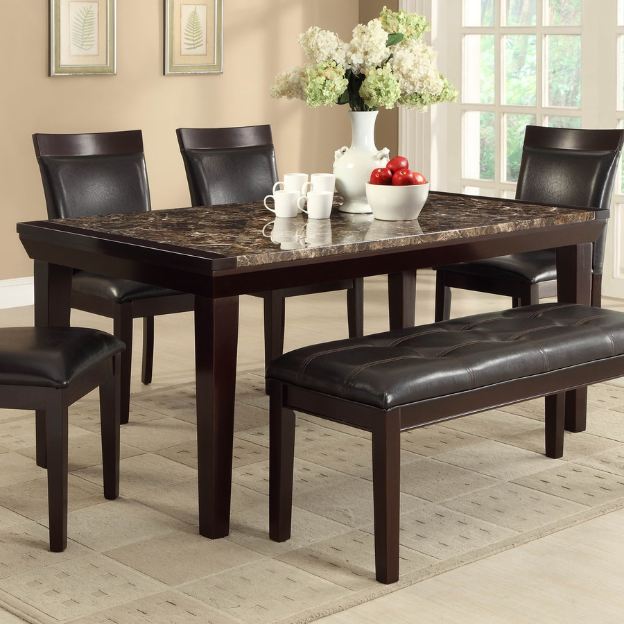 Homelegance Thurston Faux Marble Dining Table