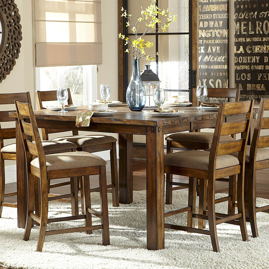 Shop Homelegance Ronan Wood Extending Counter Table at Lowes