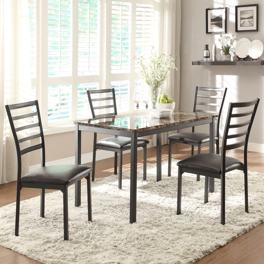 Homelegance Flannery Faux Marble Dining Table