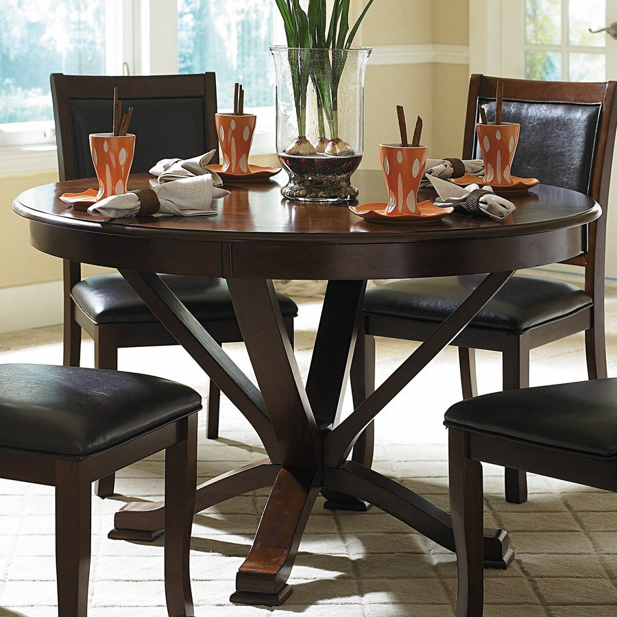 Cherrywood Dining Table: Homelegance Helena Deep Cherry Wood Round Dining Table At