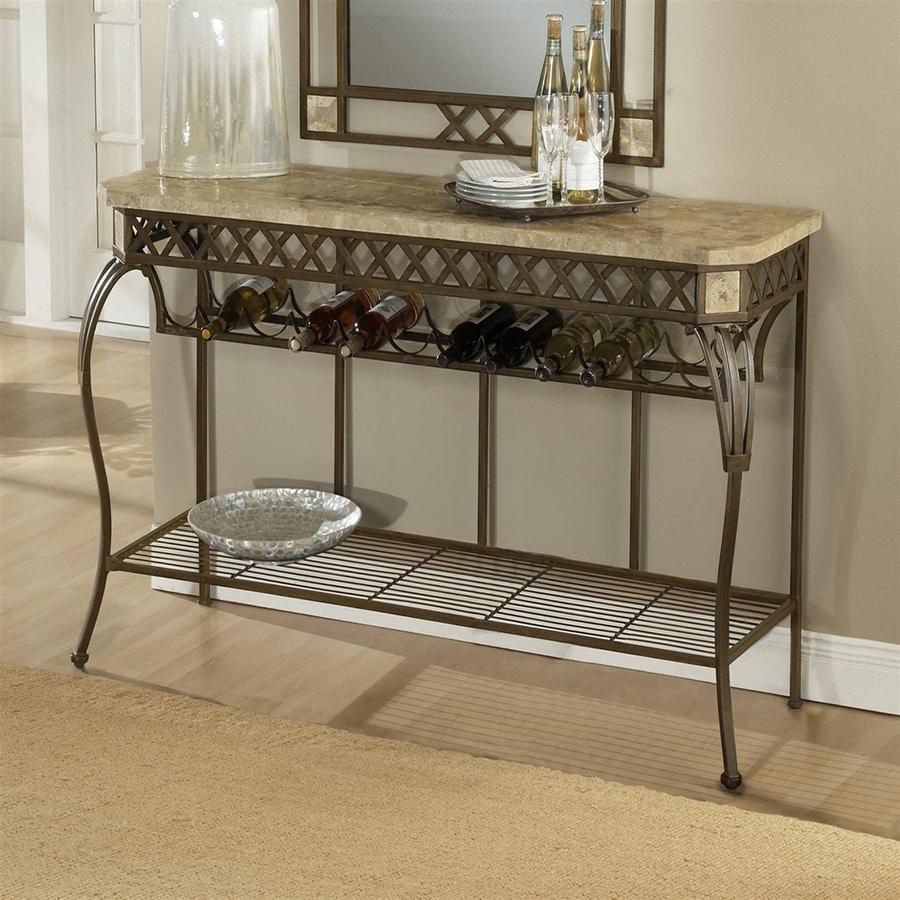 Hillsdale Furniture Brookside Metallic Brown Metal Sideboard With Wine  Storage